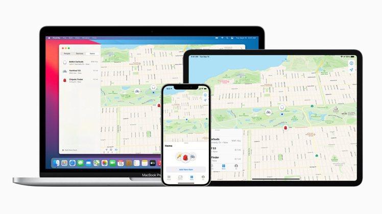 蘋果廣大且安全的「尋找」網絡,現在可以協助使用者透過「尋找」app 找出並追蹤自...