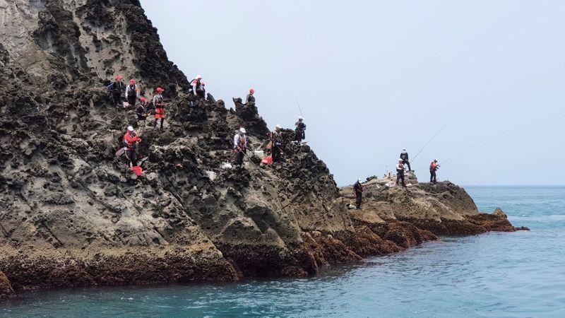 海象不佳攪局,基隆嶼國際磯釣賽延至4月24、25日。圖/基隆市政府提供