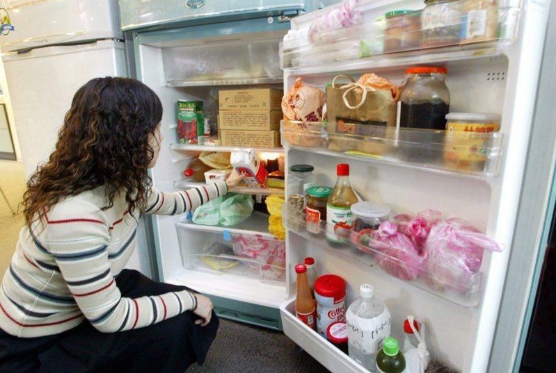 想要節電省荷包,不能不防範「吃電怪獸」11年以上的能源效率一級的老舊冰箱。圖/本報資料照