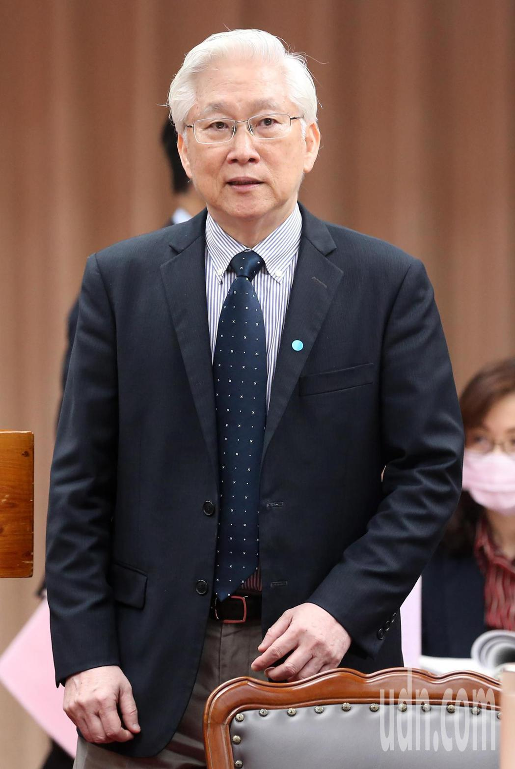 科技部長吳政忠今天前往立法院教育及文化委員會備詢。記者胡經周/攝影