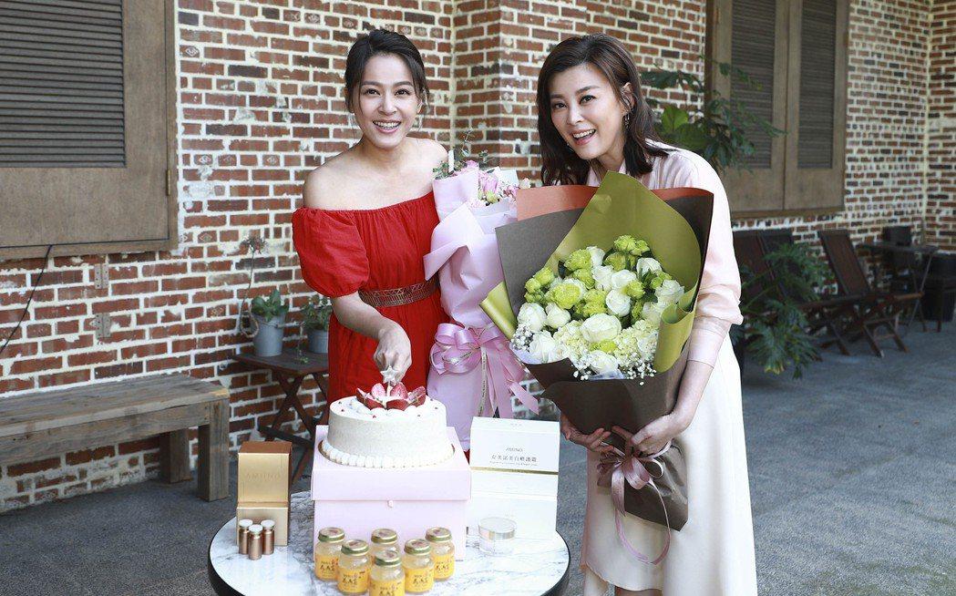 蘇晏霈過生日,好姐妹方馨為她慶生。圖/民視提供