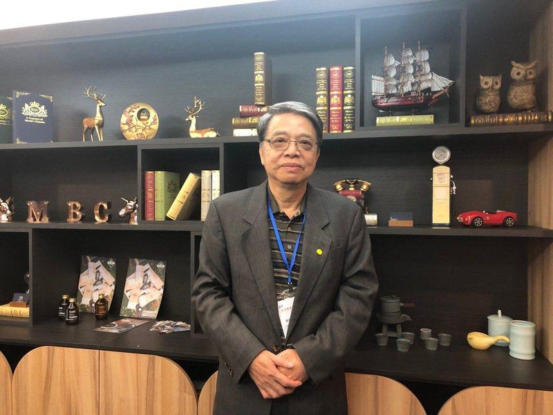 耕興副董事長王新添今日受邀櫃買業績發表會。記者尹慧中/攝影