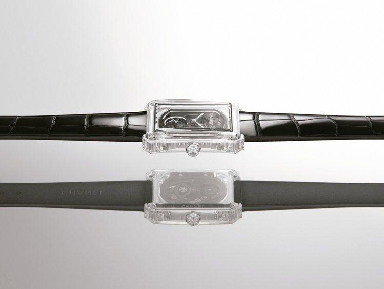 Boy∙Friend X-Ray 37毫米藍寶石水晶與白金鑲鑽鏤空腕表,246萬...