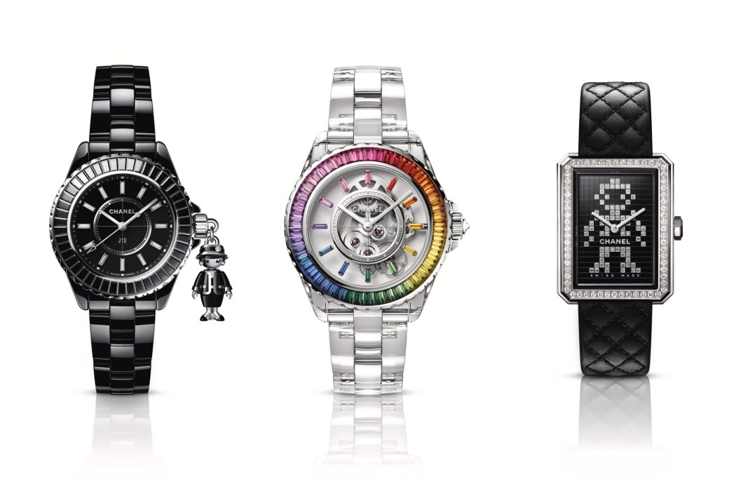 香奈兒透過鐘表與奇蹟線上表展推出今年時計新作。圖/香奈兒提供