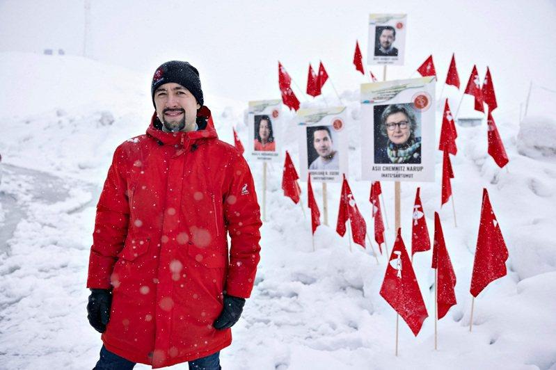 格陵蘭左翼環保主義政黨「因紐特人共同體」黨魁艾吉德,攝於6日。艾吉德勝選隔日受訪指出,不會放行中企盛和資源投資的格陵蘭礦產公司開採Kvanefjeld稀土礦床。法新社