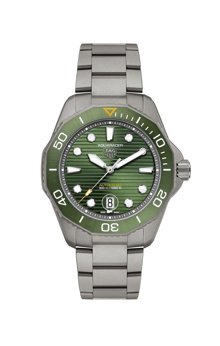 泰格豪雅Aquaracer Professional 300米自動腕表,鈦金屬表...