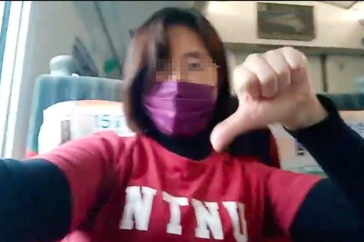 她火車上嗆蔡英文「入監槍決」 鐵警抓到人了