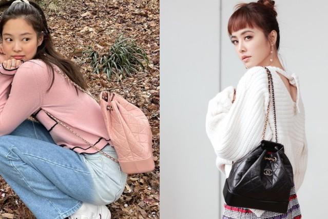 蔡依林的黑色經典小香後背包 Jennie有新版的粉紅色!