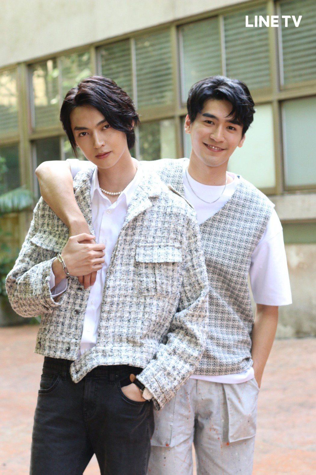 涂善存(右)、陳立安在「HIStory4-近距離愛上你」飾演「呈仁」CP。圖/L...