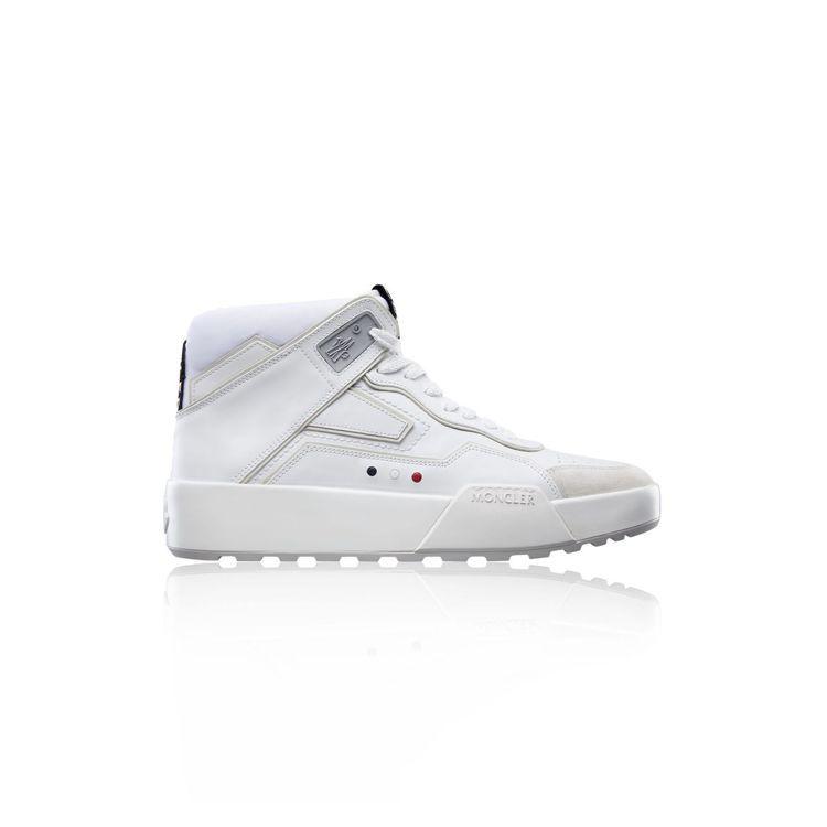 MONCLER Promyx Space冰白色高筒運動鞋,22,400元。圖/M...