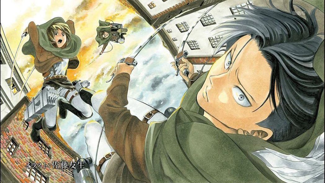 佐藤友生像是諫山創的半個師父,後來也有繪製《巨人》插畫送給諫山創出書用