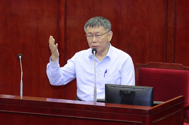 台北市長柯文哲今赴議會進行施政報告並備詢。記者許正宏/攝影