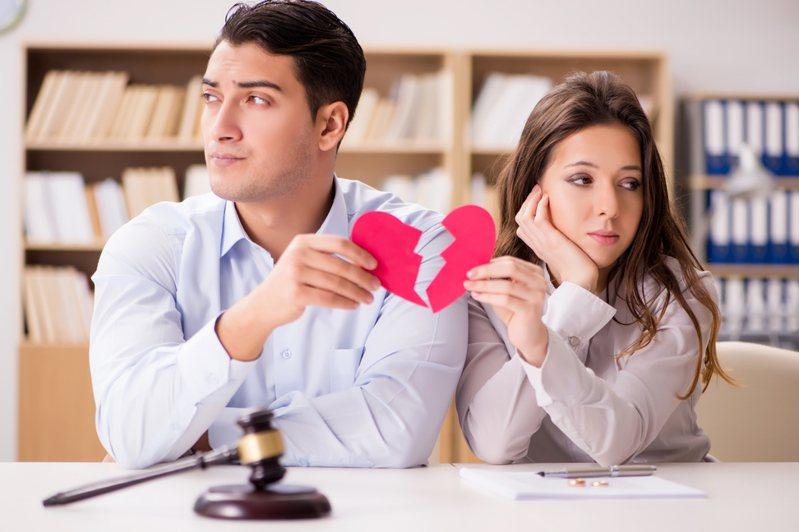 圖為夫妻離婚示意圖。 圖片來源/ingimage