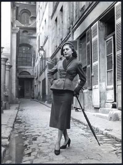 1949年秋冬高級訂製服中的Bar Jacket。 圖/DIOR提供