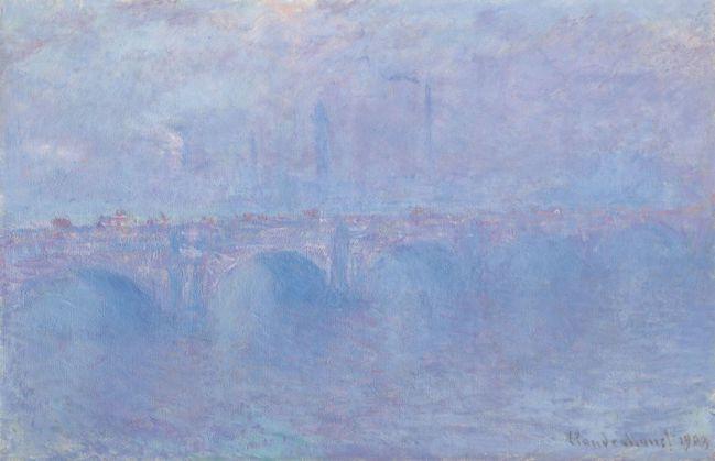 克勞德·莫內《霧中的滑鐵盧橋》,1899 至 1903 年作。(圖片提供/佳士得...