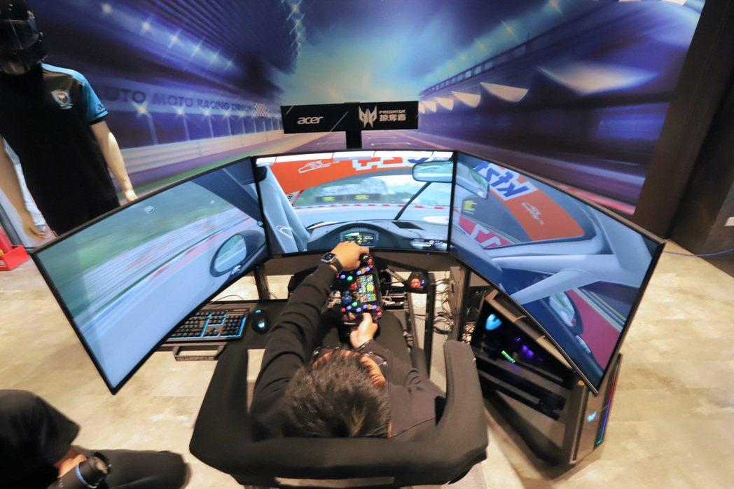 Predator League虛擬賽車聯賽採用宏碁Predator頂級電競系統,...