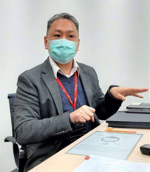 圖一 : 台灣顯示器產業聯合總會(TDUA)智慧醫療SIG召集人、元太科技業務中心協理陳俊賢。(攝影:季平)