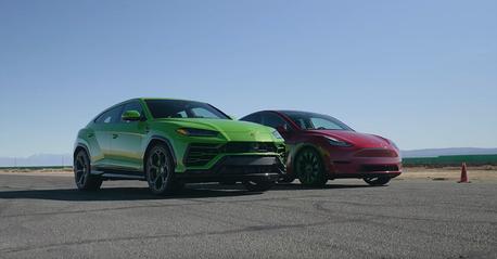 影/XX比雞腿?Tesla Model Y要挑戰Lamborghini Urus!