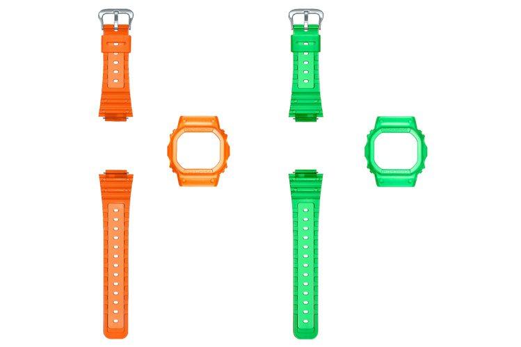G-SHOCK提供了替換式表殼與表帶設計,讓限量表充滿新鮮感。圖/Casio提供
