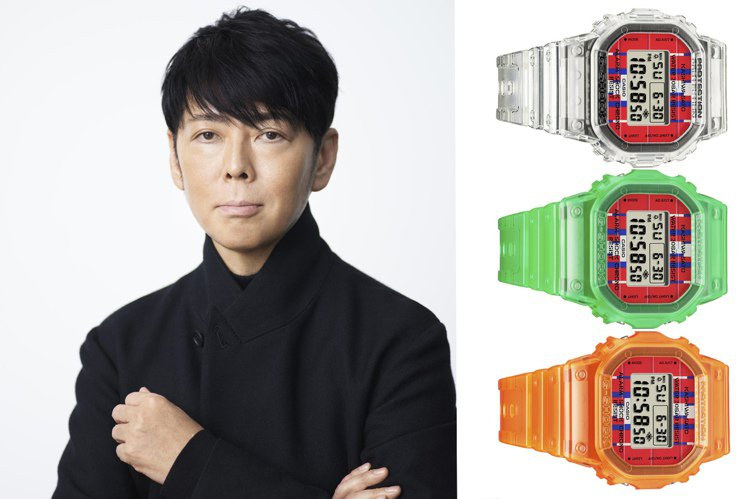 G-SHOCK因應「佐藤可士和展」,推出聯名限量腕表套組。圖/Casio提供
