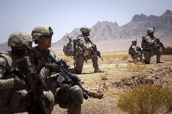 中國人權研究會9日發表「美國對外侵略戰爭造成嚴重人道主義災難」一文。(圖/取自海...