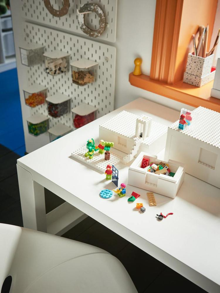 IKEA與LEGO樂高聯名的BYGGLEK系列,在台灣正式上市。圖/IKEA提供