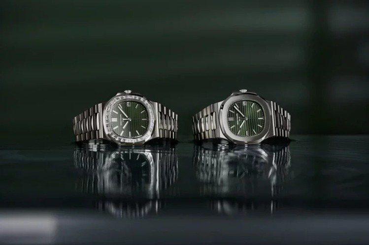 百達翡麗最新兩款5711/1A-014與鑲鑽版Ref.5711/1300A腕表也...
