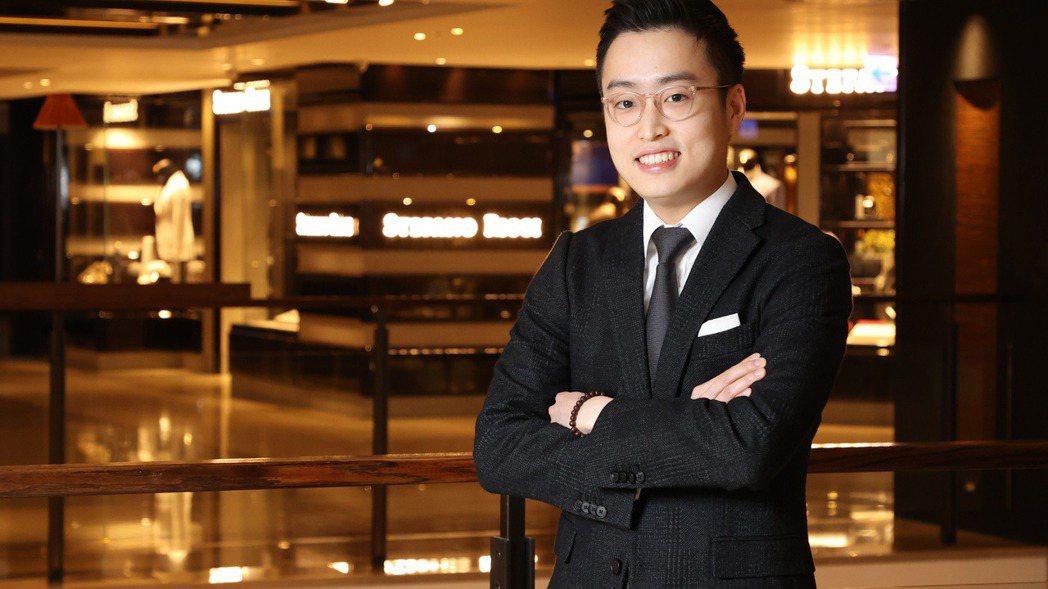 麗晶精品有史以來最年輕的招商總監游博同。林澔一/攝影