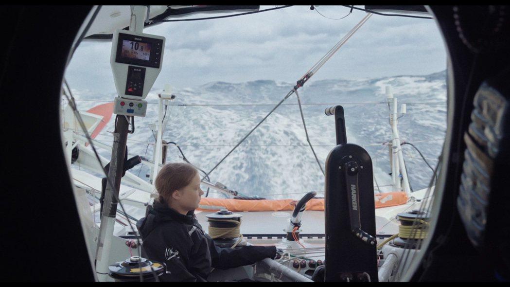 格蕾塔.童貝里減少碳足跡不搭飛機,搭賽艇渡大西洋。捷傑提供