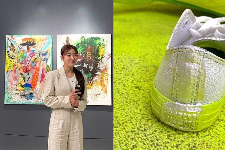 韓國女星河智苑近期以畫家身份出道,還在個人instagram張貼照片,並標註「C...