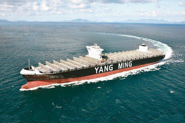 陽明海運受惠於新冠肺炎疫情影響,貨櫃海運運費走升,股價不斷上揚。圖/聯合報系資料照片