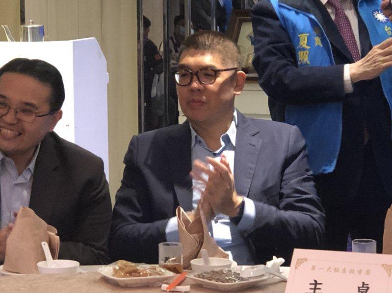 連勝文認為,改黨徽議題是民進黨搞政治鬥爭,試圖轉移焦點。記者鍾維軒/攝影