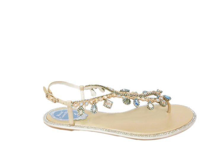 René Caovilla Veneziana涼鞋,4萬元。圖/René Cao...