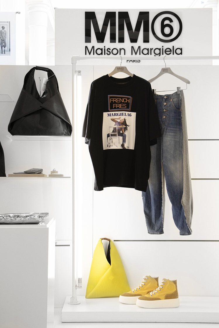 MM6大玩美式復古印花,在T恤表現八○年代的復古風情。圖/MM6 Maison ...