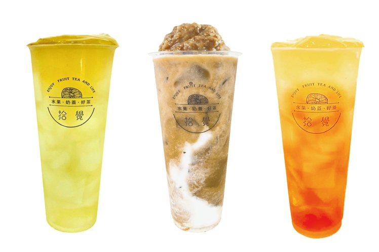 「A+B自由配兩杯86元」A區品項含春梅冬露、冬瓜檸檬、古早味綠豆雪霜、春梅綠。...