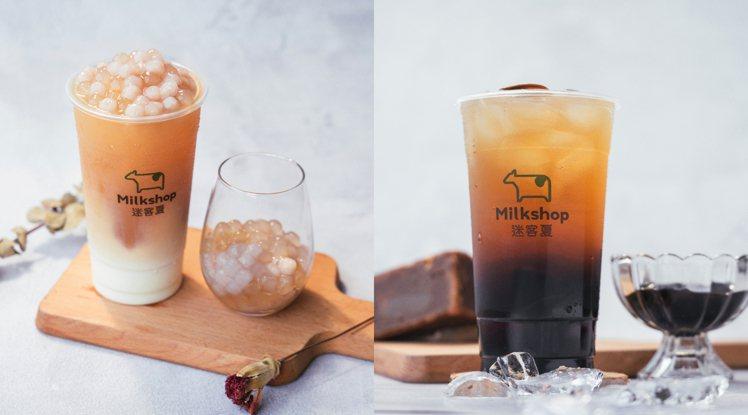 雙Q琥珀烏龍拿鐵大杯售價75元,仙草凍冬瓜茶35元;北部價位各加5元。/北圖/迷...