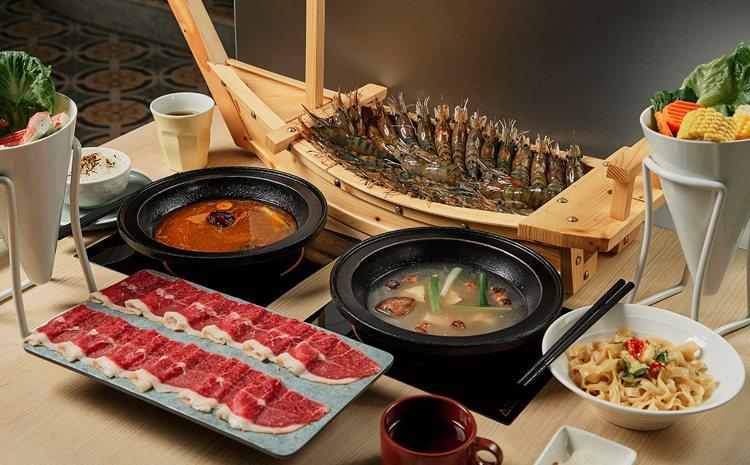 品牌新推有本事系列,船隻載滿「36隻泰國蝦」。圖/本事滿足鍋物提供