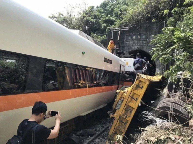 台鐵太魯閣號408車次事故,造成慘重傷亡。本報資料照片