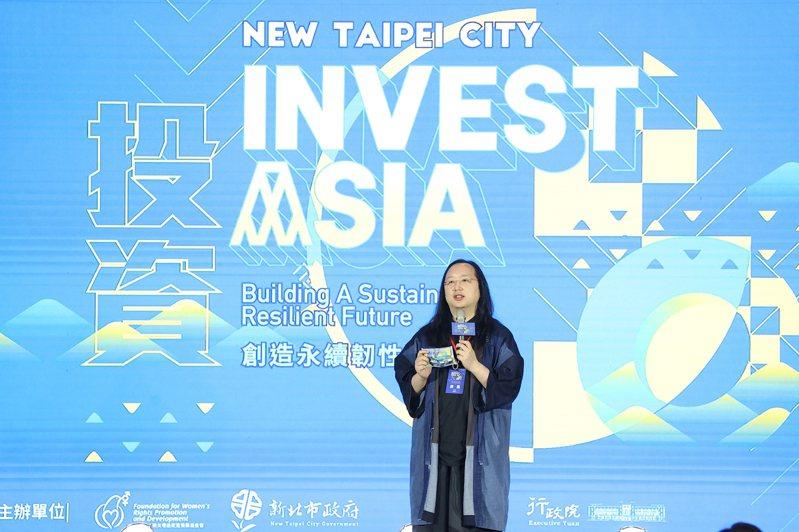 行政院政委唐鳳出席「2021第四屆亞太社創新高峰會」開幕式。 聯合報系記者葉信菉/攝影