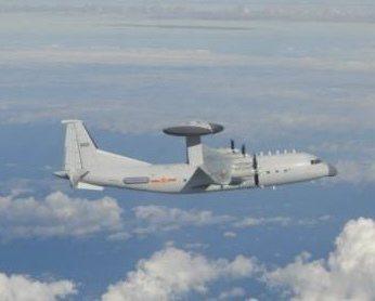 2架次空警500、一架運8遠干機及一架運8技偵機擾台。 圖/國防部提供