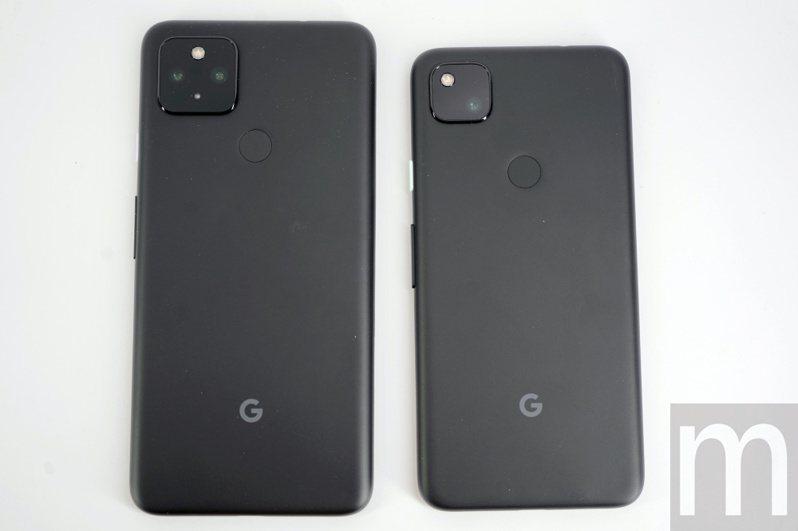 ▲左起:Pixel 4a 5G、Pixel 4a,尺寸分別為6.2吋與5.81吋