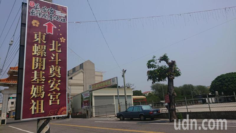 北斗奠安宮今年提供專用停車場作為大甲媽隨香信徒的休息處所。記者簡慧珍/攝影