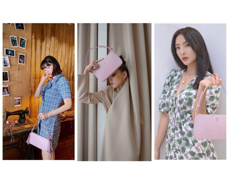 郭雪芙、李函、吳速玲詮釋Stick Bag系列包款。圖/取自IG