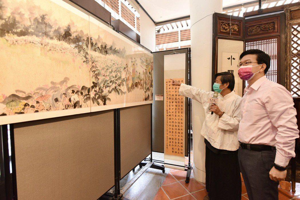 此次「山城客藝展」,作者藉由藝術創作展現出對山城東勢的情感。記者宋健生/攝影