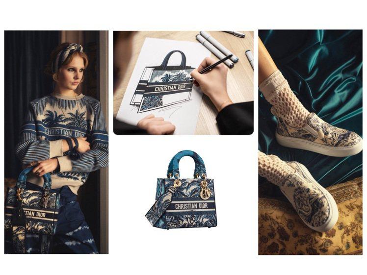 DIOR推出洋溢夏日情調的Dior Palms系列。圖/DIOR提供