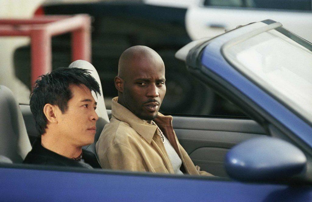 DMX(右)曾與李連杰合演「龍潭虎穴」。圖/摘自imdb