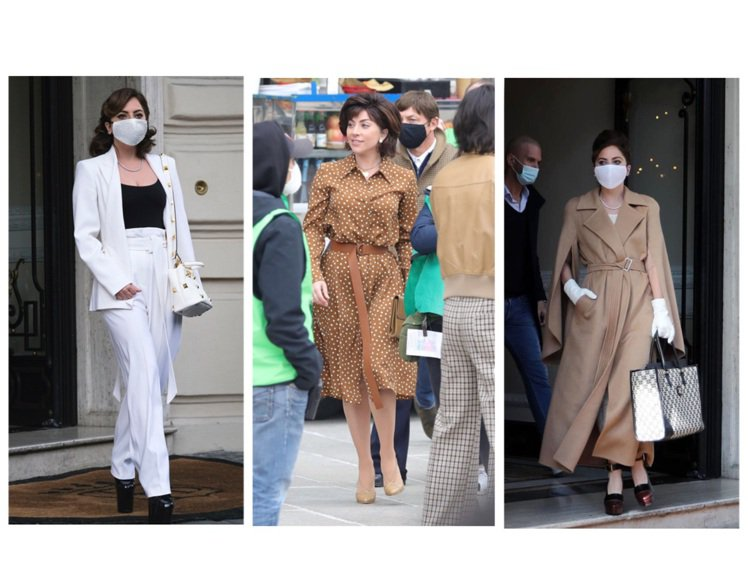Lady Gaga多次詮釋Max Mara的2021春夏、早秋服裝。圖/Max ...