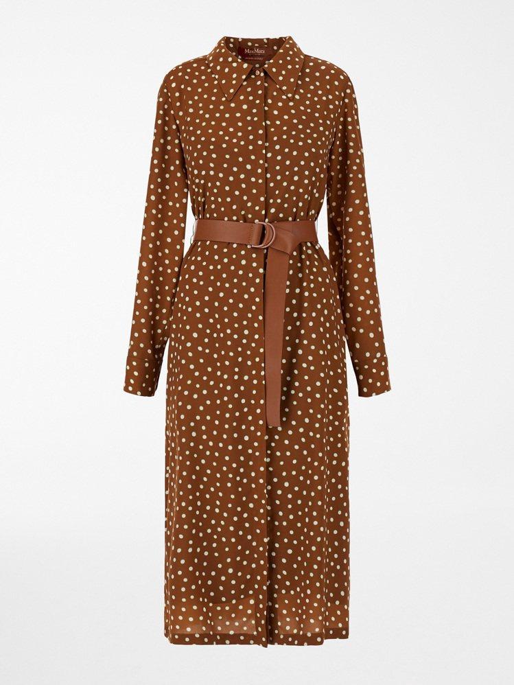 Max Mara 2021春夏圓點連身裙,38,800元。圖/Max Mara提...