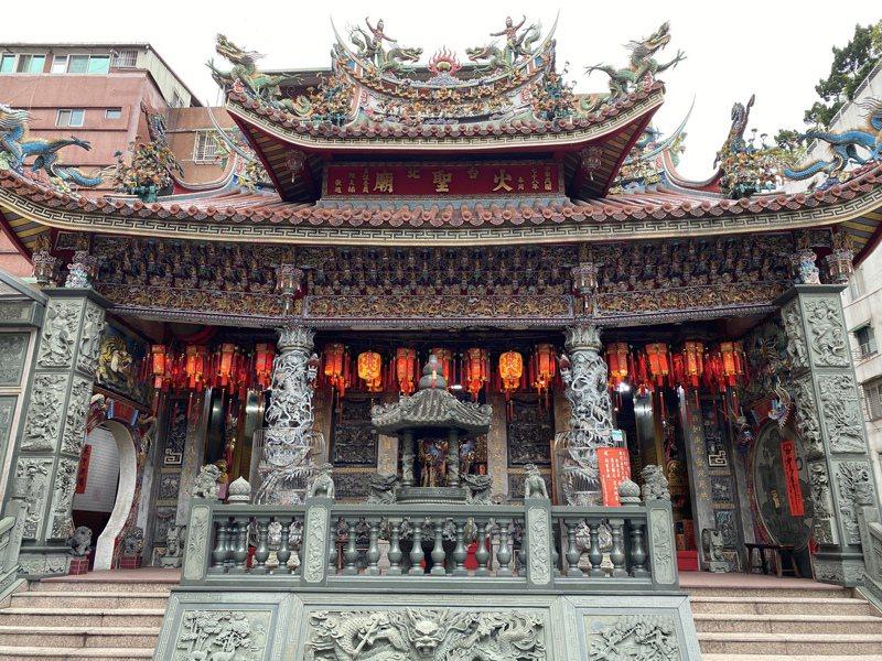 位於延吉街上的「火聖廟」,是全台唯一辦理登記的火神廟,成為北市消防人員的信仰中心。記者潘才鉉/攝影