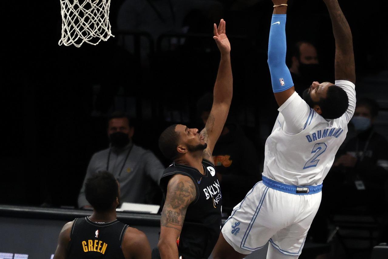 NBA/今日戰績表 湖人佐蒙德領軍大破豪華籃網
